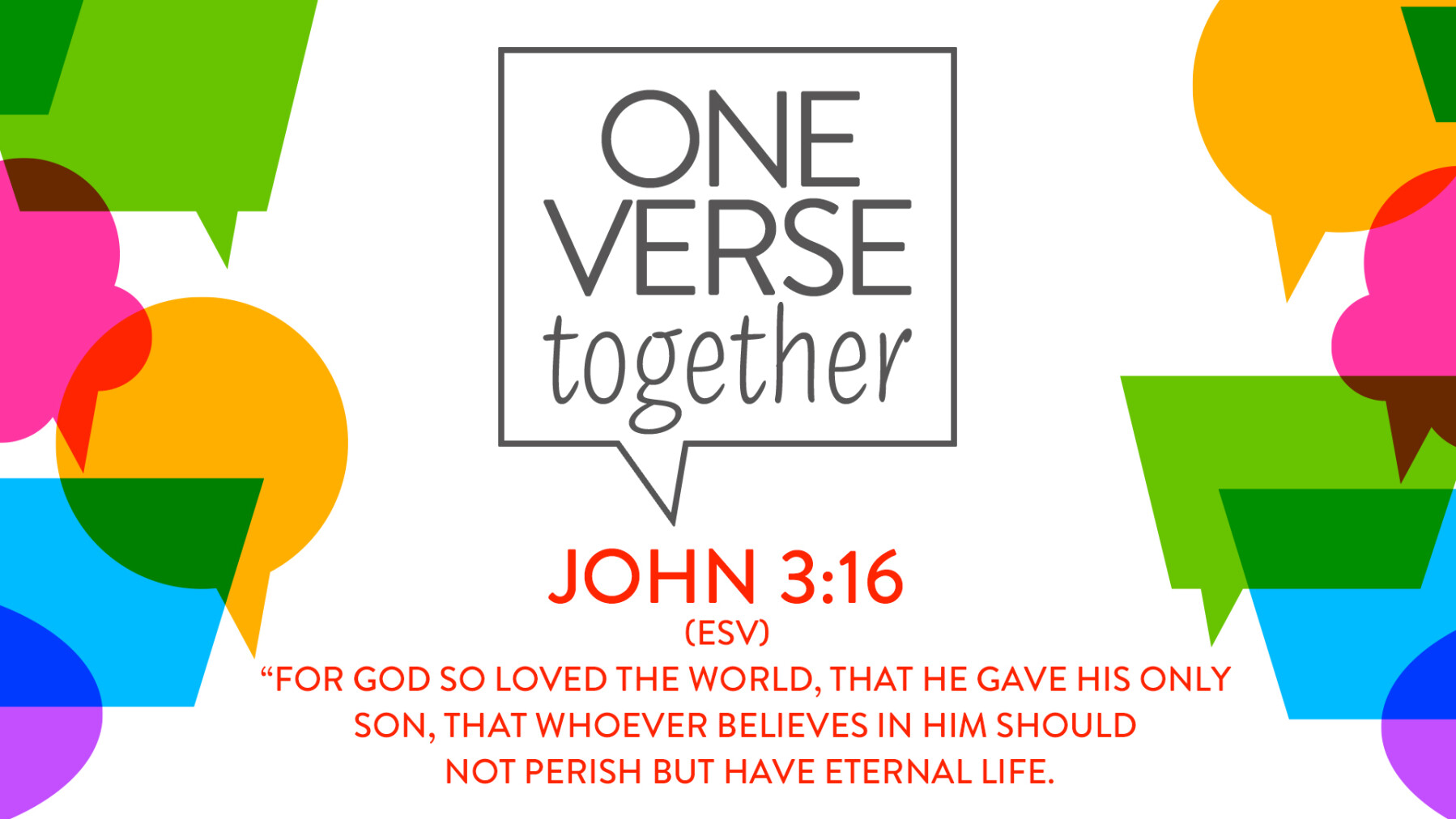One Verse Together